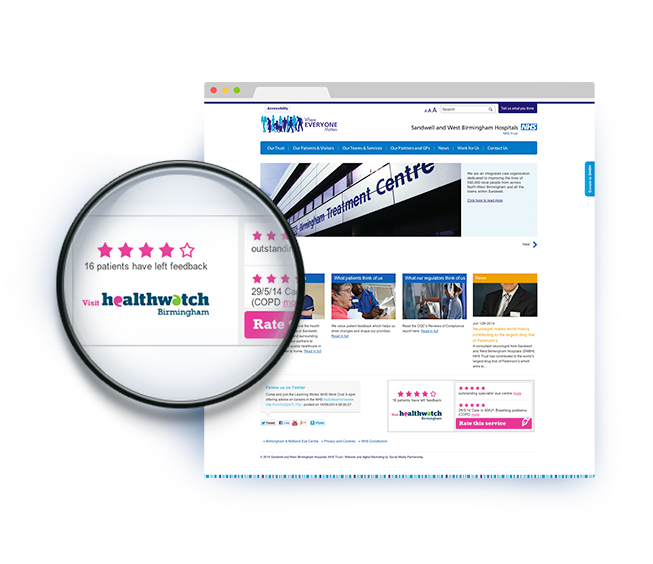 Healthwatch-Widget